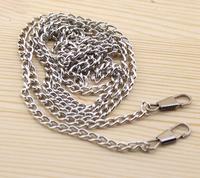 """8pcs/lot 120cm 47"""" long Metal Silver purse chains bag parts accessories for DIY"""