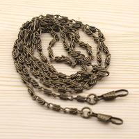 """8pcs/lot 120cm 47"""" long Metal Bronze purse chains bag parts accessories for DIY"""