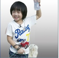 Fashion cotton boy's t-shirts/Summer cool Racing No.77 children's top/2014 new arrival