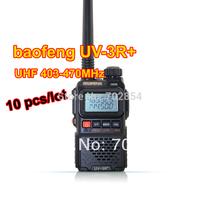 10pcs per lot Free shipping BaoFeng UV-3R Plus dual band radio Channel Step: 5/6.25/12.5/25KHz UV-3R+ radio