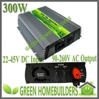 CE approved 300W MPPT solar power grid tie inverter pure sine wave 24V(20-40)/36V (22-45) DC input 90-260V AC output