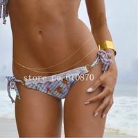 Hot Sexy Beach Body Jewelry Women Girls Fashion Bikini Belly Chain Gold Silver Color Wholesale 5pcs