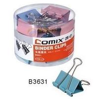 Lashed b3631 multicolour binder clips 1# 51mm 12 pcs tube dovetail clip paper clip