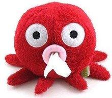 Stylish Carton Short Plush Octopus Shape Napkin Tissue Box Holder,Red(China (Mainland))
