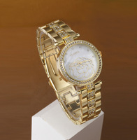 Fashion romantic camellia classic ring alloy high quality female dress watches girl Vintage Watch wholesale