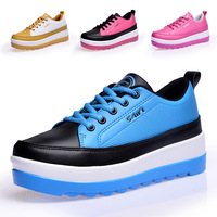 Swing 2014 genuine leather shoes platform shoes platform casual sport shoes wedges female