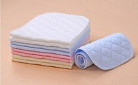 wholesale  50pcs Washable reuseable Baby Cloth Diapers Nappy inserts microfiber 2 layers