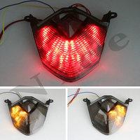 Smoke LED Tail Light Brake Turn Signals For Kawasaki Z750 2007 2008 2009