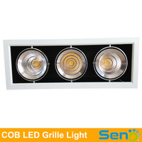 60W Square Lustrous COB LED grille downlight High CRI >80 Input AC85-265V 3 years warranty 1pcs/lot