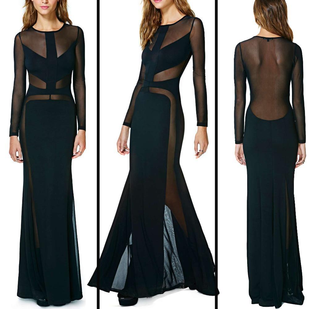Вечерние платье с сетки
