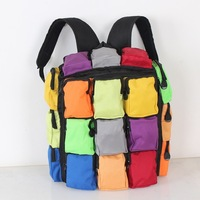 2014 mixed colors ladies handbag shoulder bag women large capacity backpack travel bag men and women hit the color Piece Pack