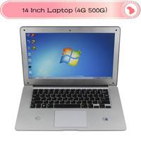 14 inch Ultrabook Laptop Notebook  Windows 7 Intel Atom D2500 Computer PC  1.8Ghz 1G/2G/4GB RAM 160G/250G/320G/500GB ROM