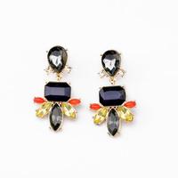 2014 Statement Fashion Women Jewelry Elegant Resin Plant Stud  Earrings
