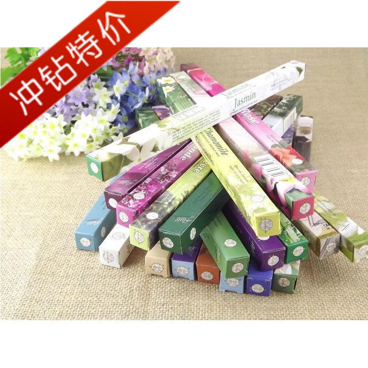 Flute incense rose aromatherapy yoga decompression indian incense 8 hong box(China (Mainland))