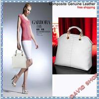 2014 New Arrival Composite Genuine Leather Women Totes Bag CROCO Famous Brand Women Handbag Vintage Shoulder Bag freeshiping