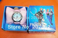 Free shipping Via DHL!200pcs/lot ! 2015 Hot Sale Elsa And Anna Character Quartz Watch Cartoon Children Watch A3259 Wholesale