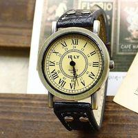 Free shipping wholesale dropship 2014 hot sale vogue design  Leather quartz watches women fashion