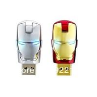 Wholesale Hot sale Fashion Avengers Iron Man LED Flash 1-64GB USB Flash 2.0 Memory Drive Stick Pen/Thumb/Car