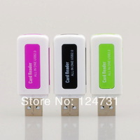New Brand High Speed All in one USB 2.0 Multi Memory Card Reader for Micro SD/TF M2 MMC SDHC 2pieces per lot