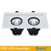 15W 30W 45W Lustrous Square COB LED grille light high brightness >100lm/watt  Anti-dizzleness 360degree rotation High quality