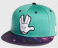 HOT 2014 new fashion summer brand sky bule galaxy with hand baseball snapback hat and caps for womens-mens free shipping by box