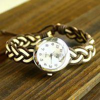 wholesale vintage Genuine Cow leather fashion Wrap Women watch ladies wrist watch