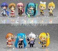 Lot 10 pcs / 12pc Vocaloid HATSUNE MIKU Action Figures Luka Rin Len PVC Dolls 6.5cm