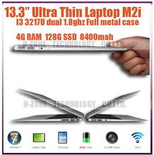 DHL Freeshipping Super power ultrabook laptop Aluminium alloy case Intel Core i3-3217 Dual core 1.8Ghz 4GB RAM&128GB SSD HZ-M2i (Hong Kong)