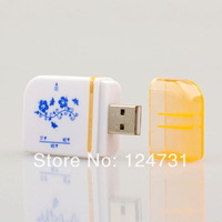 2pcs/lot  All in one USB 2.0 Multi Mini Memory Card Reader for Micro SD/TF M2 MMC SDHC with free shipping