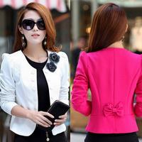 2014 autumn slim women's double breasted short design long-sleeve cardigan blazer female short jacket woman coat LS300