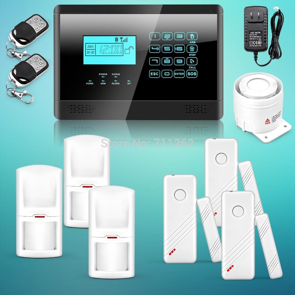 Spedizione gratuita! Ultimo nuovo touch tastiera wireless gsm sms auto dial casa intelligente sicurezza del sistema antifurto ultimo sensori