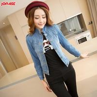 Jorase vintage denim short jacket female spring and autumn slim long-sleeve denim clothing coat