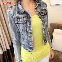 Denim coat 2014 spring all-match denim short jacket coat outerwear female long-sleeve