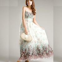 Bohemian dress,2014 New Arrival Summer Dress Bohemian Beach Printing Women Dress 3 Colors Z1027