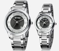 EYKI EET8609 Full Steel Watch Lover Quartz Watch Steel Watchband Men Watch Women Dress Watches Fashion Wristwatches
