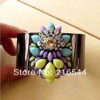 New 2014 Shourouk yellow water drop crytal Bracelet Beads bubble bracelets alloy bangles for women