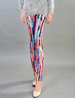 2014 New Arrival Legging For Women Fashion Scrawl Print Leggings Elastic Pants Plus Size LG-615