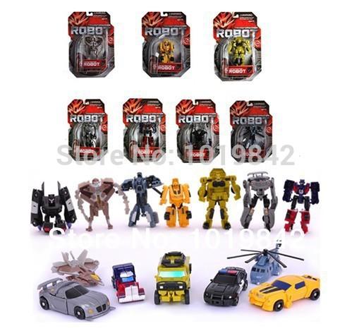 2014 New Arrive 7 pieces Movie 4 Transformation Robot Legends Optimus Prime 3C 9cm Classic Toys for Children with Original Box(China (Mainland))