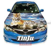 Animal Tiger PVC Self-Adhesive Vinyl Car Hood Stickers Design For All Car Model