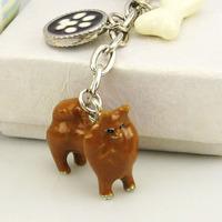 Free shipping 629209 pomeranians - Pomeranian dog super simulation pet dog key chain Christmas