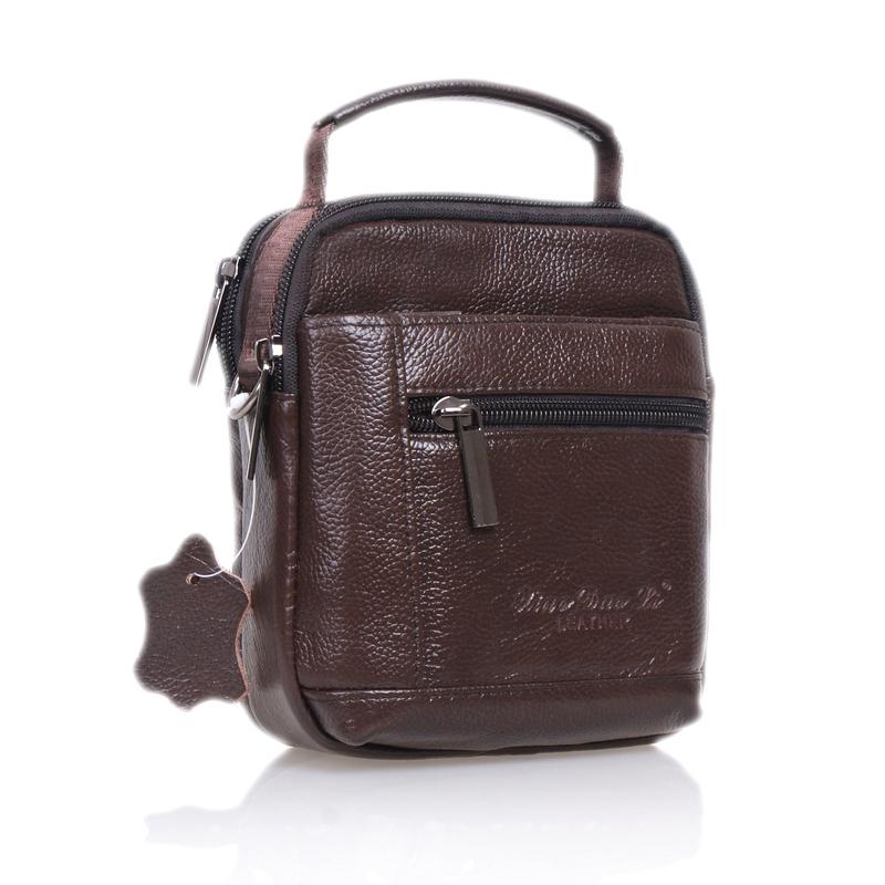 2014 New Multi-function Men's waist pack casual leather handbag male vintage shoulder bag Promotion!!(China (Mainland))