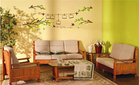 Free Shipping ( 2 pcs / lot )  Environmental protection PVC wall stickers Happy Photo Tree