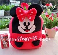 I4 Kawaii Red Mickey series Minnie plush backpack Child PRE School Kid Boy and Girl Cartoon Bag School bag