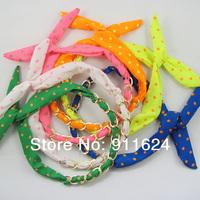 Free shipping South Korea's new vivi jewelry cute rabbit ears metal chain belt hoop beach necessary new fluorescent paragraph