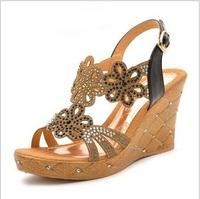 2014 factory direct sale summer brand platform sandals