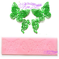 2014 New silicone fondant lace mold,butterfly fondant gum paste pad,DIY sugarcraft cake decorating tools,bakeware