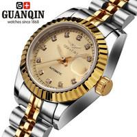 Origina Designer Ladies Luxury watch automatic CZ Diamond Waterproof sapphire women watches 5 colors white Gold wristwatch 2014