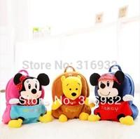 I4 Kawaii Mickey Minnie Mouse teddy bear plush backpack Child PER School Kid Boy and Girl Cartoon Bag School bag