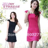 2014 Fashion Tight Mini One -Piece Dress Woman ,More Colors to Choose, Wholesale Price-Free Shipping