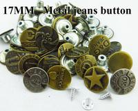 60PCS  17MM mixed 15-25patterns CLOTHES button jean metal buttons  JEANS BUTTON MJB-079